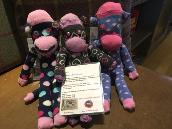 The monkeys are helping with fundraising ideas
