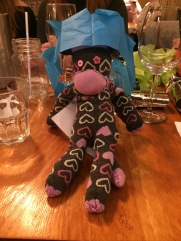Meet Beatrice, our original sock monkey